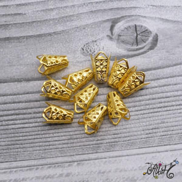 Kúpos gyöngykupak, végzáró - arany 5