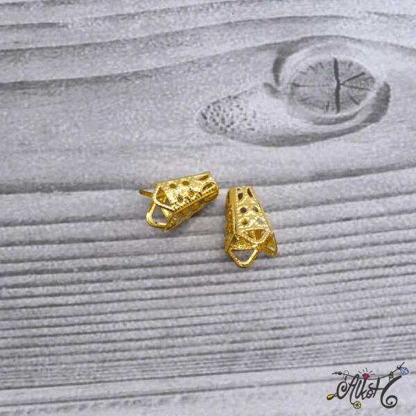 Kúpos gyöngykupak, végzáró - arany 3