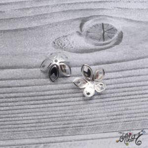 Nagyméretű szirom gyöngykupak – ezüst
