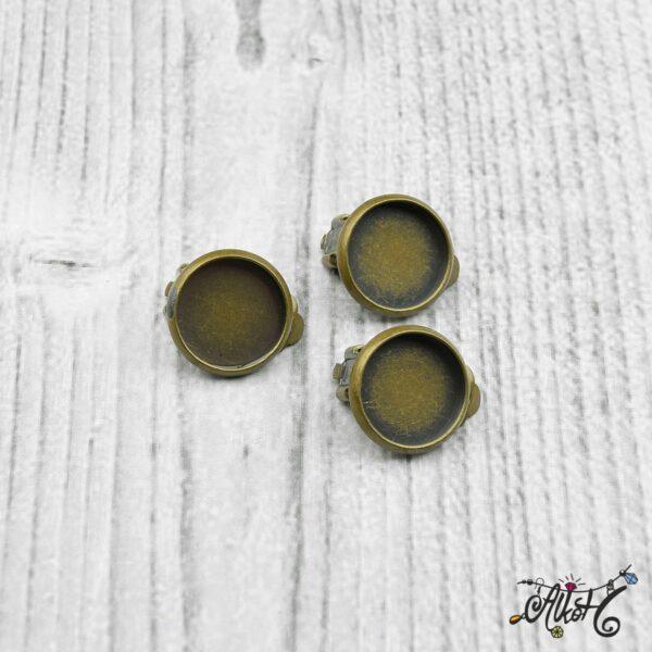 Klipsz alap, antik bronz (belső 12 mm) 4