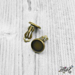 Klipsz alap, antik bronz (belső 12 mm)