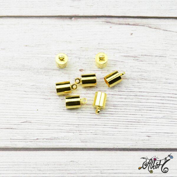 Végzáró kupak - arany, 9,5x6mm 3