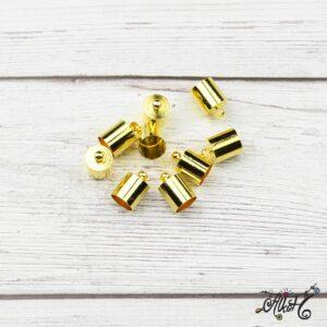 Végzáró kupak – arany, 12x8mm