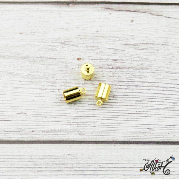 Végzáró kupak - arany, 9,5x6mm 4