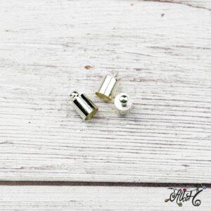 Végzáró kupak – ezüst, 9,5x6mm