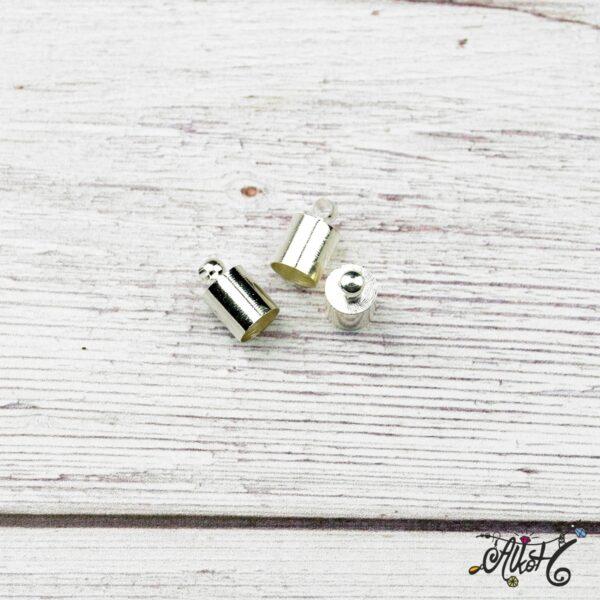 Végzáró kupak - ezüst, 9,5x6mm 4