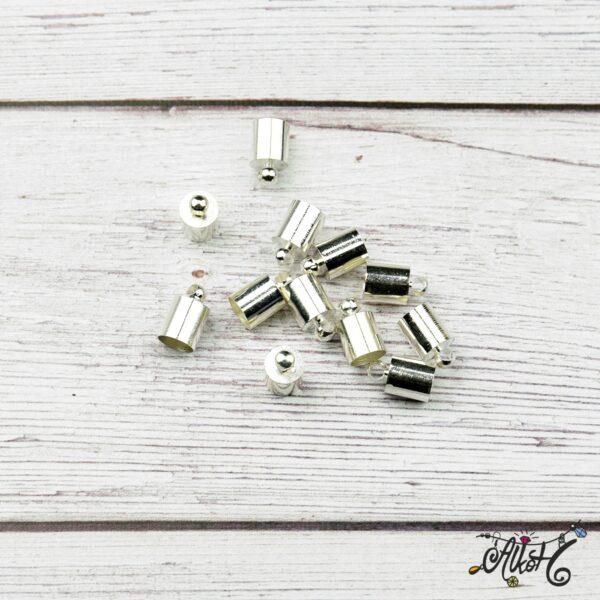 Végzáró kupak - ezüst, 9,5x6mm 3