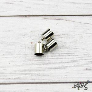 Végzáró kupak – platina, 13x8mm