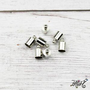 Végzáró kupak – platina, 10x6mm