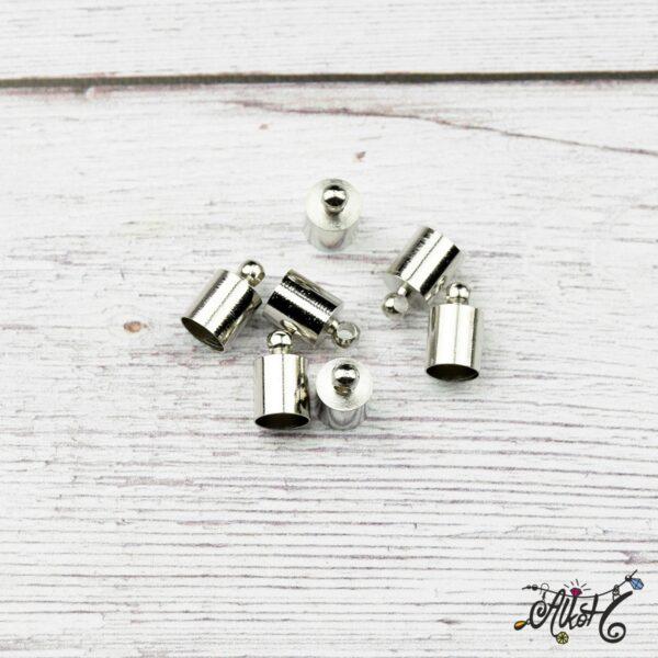 Végzáró kupak - platina, 10x6mm 3
