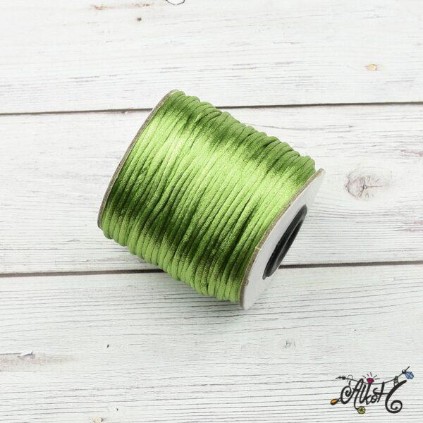 Szatén zsinór - világos zöld, 2mm 4