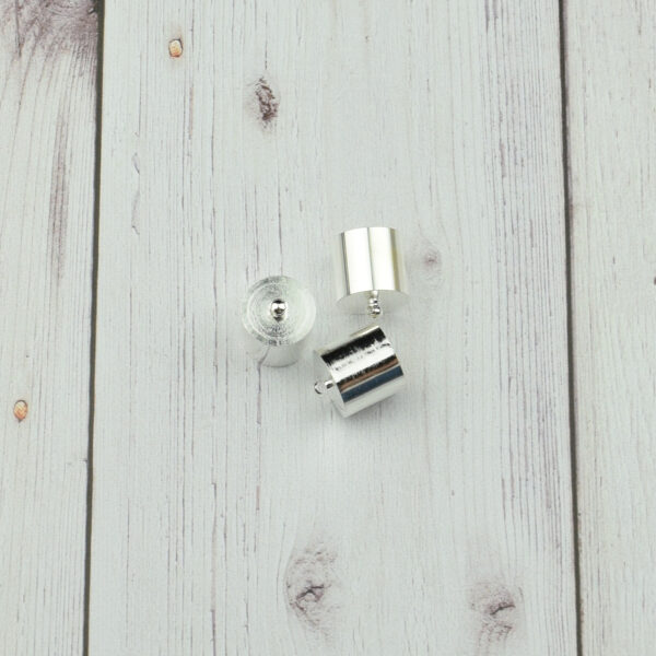 Végzáró kupak - ezüst, 16x14mm 3