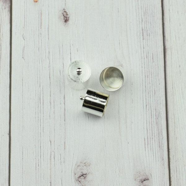 Végzáró kupak - ezüst, 16x14mm 2