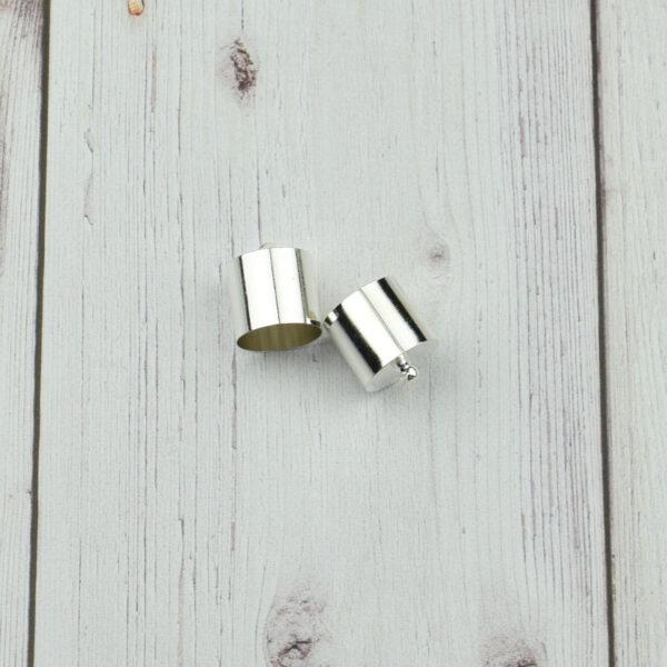 Végzáró kupak - ezüst, 16x14mm 4