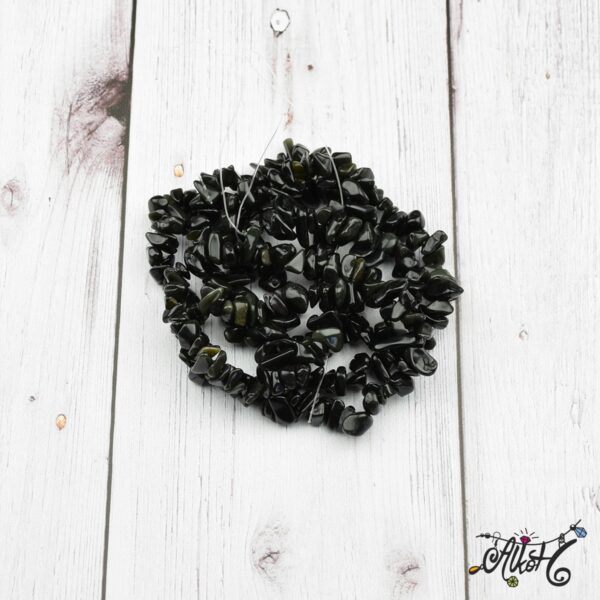 Ásványfüzér - fekete obszidián 2