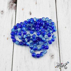 Robbantott gyöngy – átlátszó-kék, 8mm