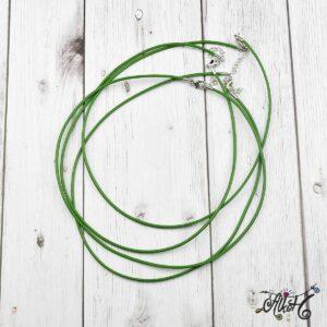 Bőr nyaklánc alap – zöld