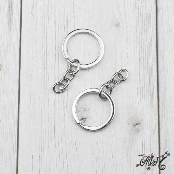 Kulcstartó karika lánccal (platina) 2