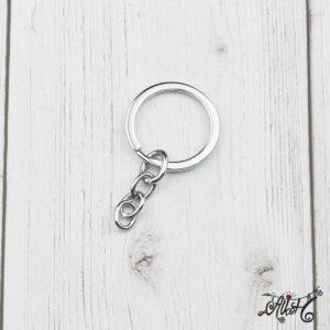 Kulcstartó karika lánccal (platina)