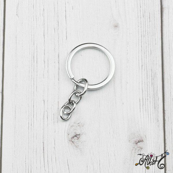 Kulcstartó karika lánccal (platina) 1