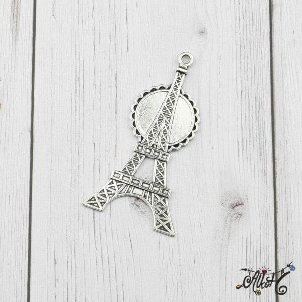 Eiffel torony medál alap, tibeti ezüst (20mm) 3