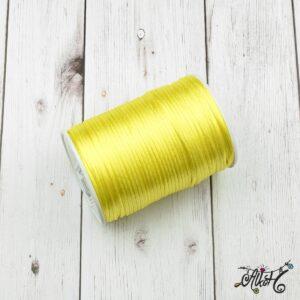 Szatén zsinór – citromsárga, 2mm