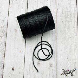 Szatén zsinór – fekete, 2mm