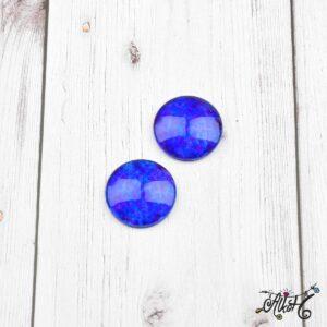 Színezett üveglencse, cabochon – királykék (25mm)