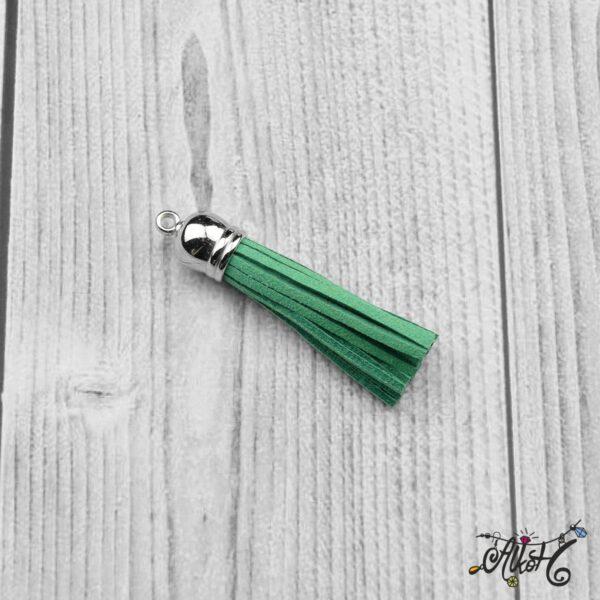 Velúr hatású bojt (6cm) - smaragdzöld 3