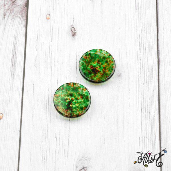 Színezett üveglencse, cabochon - zöld (25mm) 4