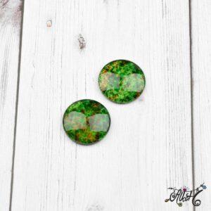 Színezett üveglencse, cabochon – zöld (25mm)
