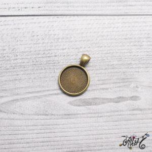 Antik bronz medál alap – 18 mm