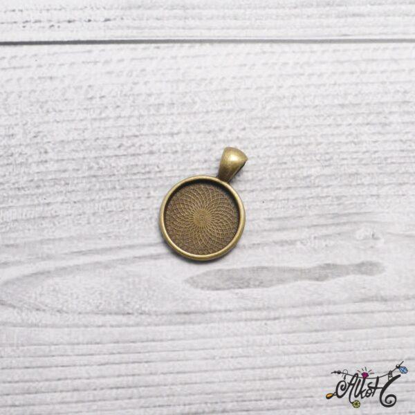 Antik bronz medál alap - 18 mm 4