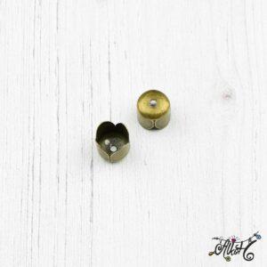 Tulipán kupak, antik bronz (8x8mm)