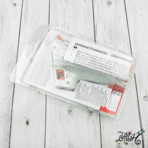 Alacsony hőmérsékletű ragasztópisztoly, csomagban