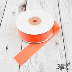 Szatén szalag 25mm – neon narancs