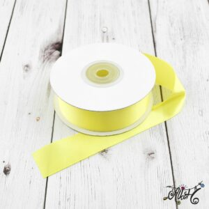 Szatén szalag 25mm – sárga