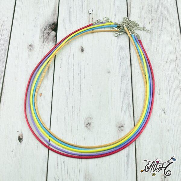 Viaszolt szál nyaklánc alap csomag - karibi mix (5db) 1