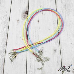 Viaszolt szál nyaklánc alap csomag – karibi mix (5db)