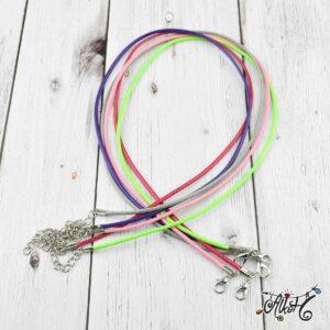 Viaszolt szál nyaklánc alap csomag – fiesta mix (5db)