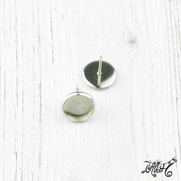 Orvosi fém bedugós fülbevaló alap (10mm) 1