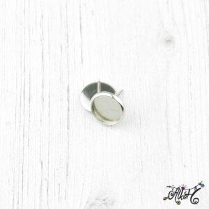 Orvosi fém bedugós fülbevaló alap (10mm)