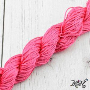 Selyemfényű zsinór – pink