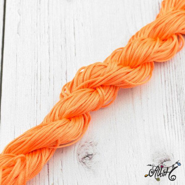 Selyemfényű zsinór – narancssárga 1