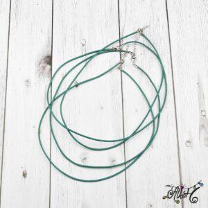 Bőr nyaklánc alap – türkizes-zöld
