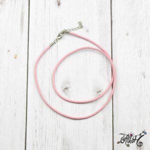 Bőr nyaklánc alap – rózsaszín