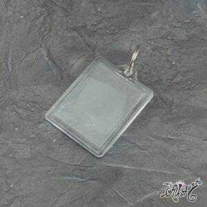 Plexi képtartós kulcstartó (nagy)