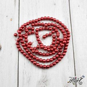 Viaszgyöngy – sötét piros, 6mm