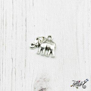 Tibeti ezüst elefánt fityegő, medál