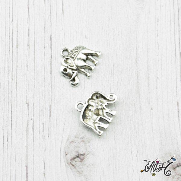 Tibeti ezüst elefánt fityegő, medál 1